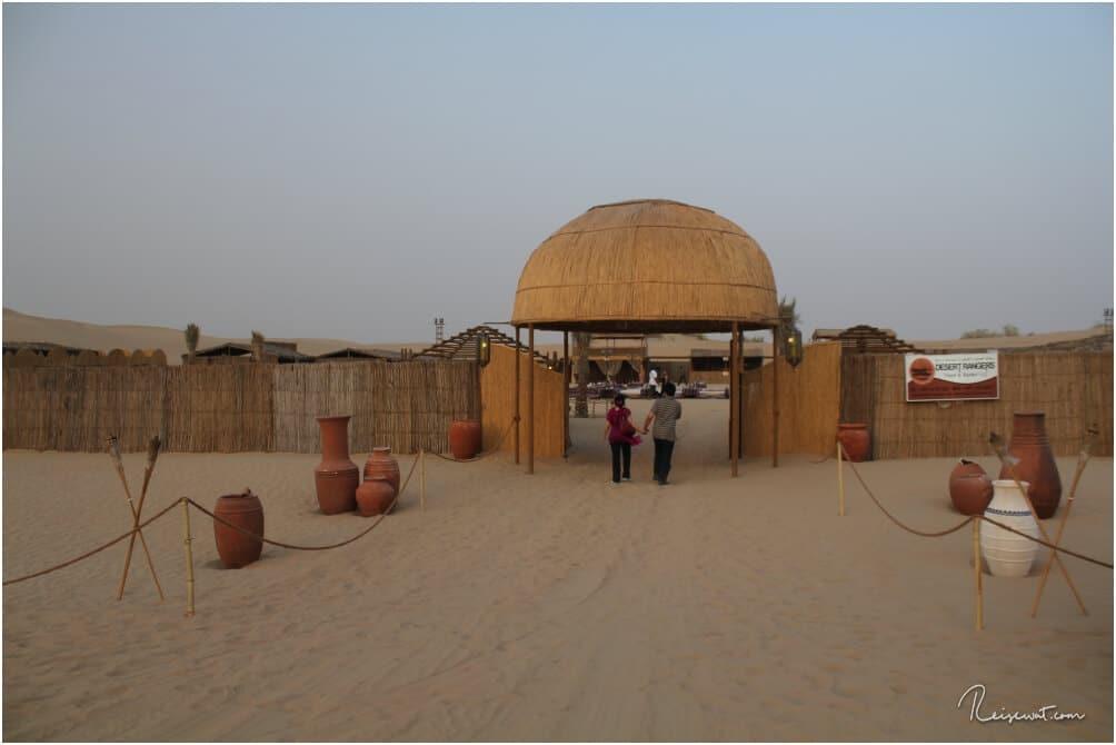 Der Eingang zum Wüstencamp