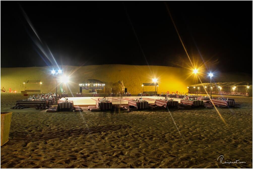 Das Wüstencamp bei Nacht
