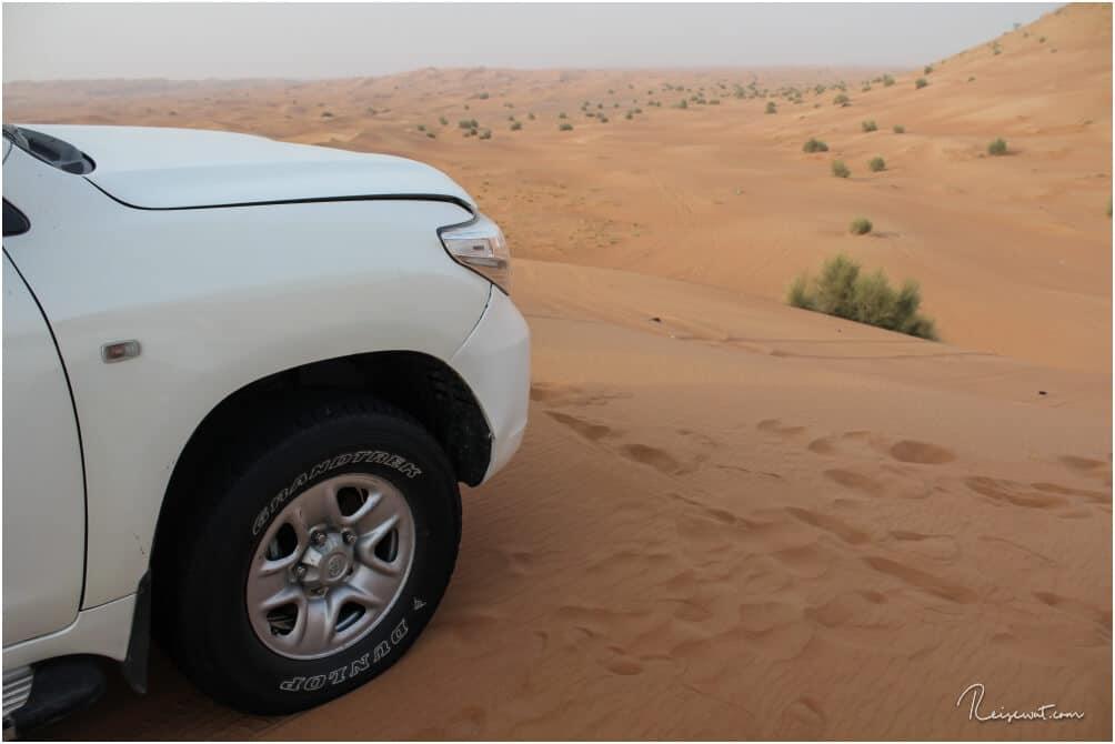 Die Wüste ist hier ein riesengroßer Sandkasten zum spielen für die Scheichs