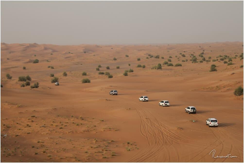 Auf geht's zur Wüstensafari ins Hinterland bei Dubai