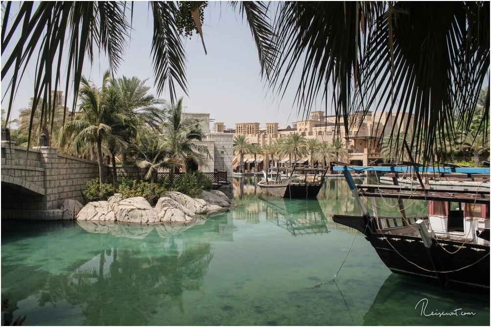 Das Madinat Jumeirah, ein gigantischer Hotelkomplex mit eigenem Wasserkanal und diversen Souks
