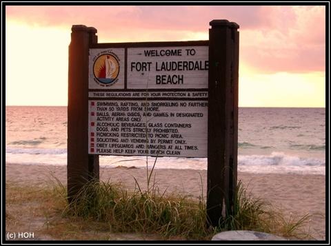 Sunrise in Ft.Lauderdale Beach