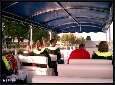 Unterwegs auf dem Boot