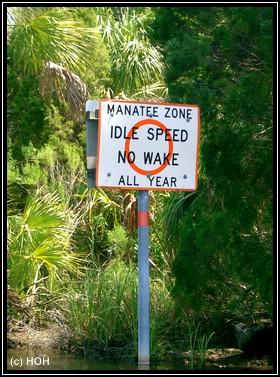 Manatee Zone Schild