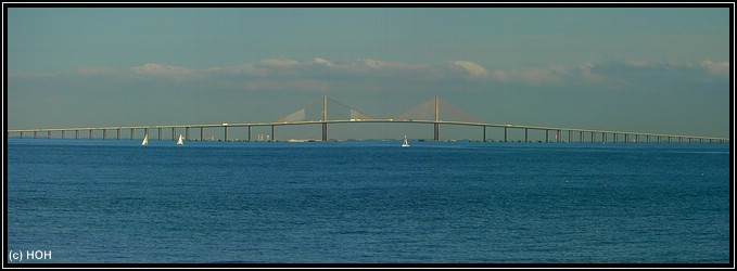 Sunshine Skyway Bridge Panorama