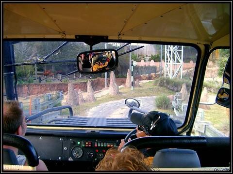 Im Jeep der Rhino Ralley