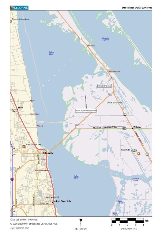 Black Point Wildlife Drive - Karte