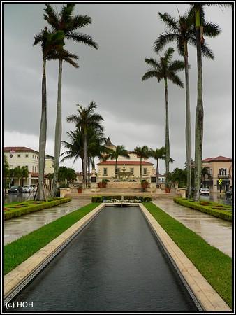 In Palm Beach ... Brunnen im Memorial Park