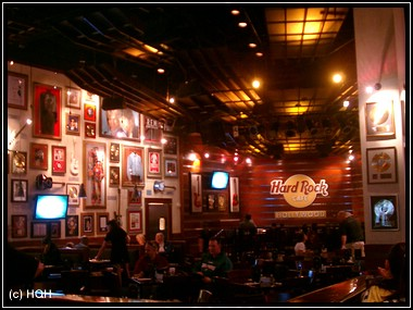 Im Seminole Hard Rock Cafe and Casino in Hollywood, Fl.