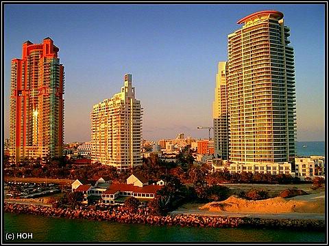 Bei der Hafenausfahrt Miami