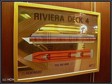 Karte vom Riviera Deck