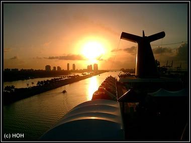 Miami Sunrise bei der Ausschiffung