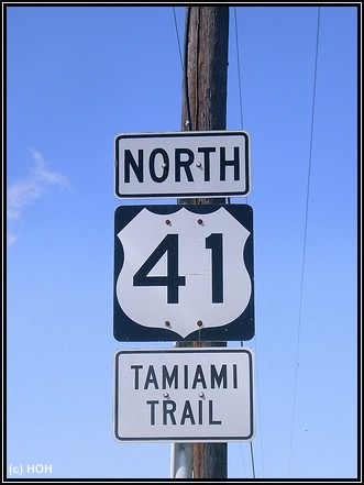 Tamiami Trail Sign