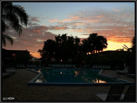 Sonnenaufgang in Orlando ...