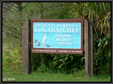 Loxahatchee National Wildlife Refuge Eingang