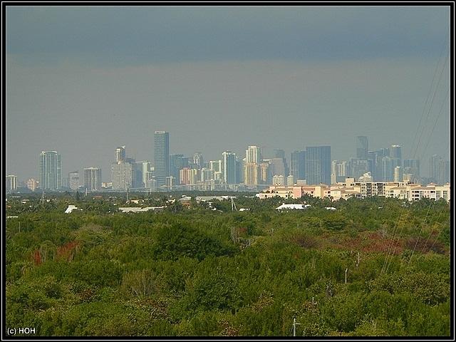 Blick vom Leuchtturm in Richtung Downtown Miami