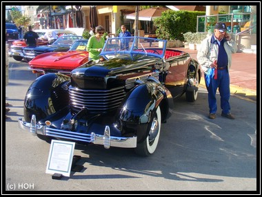 1938er CORD 810 Phaeton ... das Highlight am Art Deco Weekend