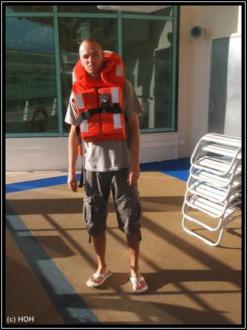 Auf dem Weg zur Rettungsübung