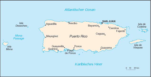 Karte Puerto Rico