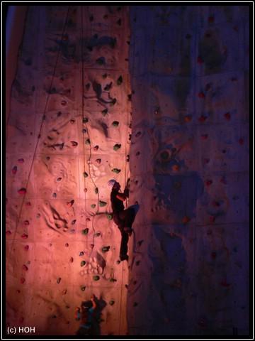 Kletterer bei Nacht