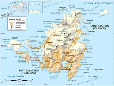 Karte von Saint Maarten