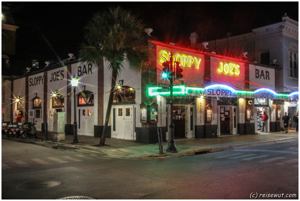 Die legendäre Kneipe Sloppy Joes auf der Duval Street