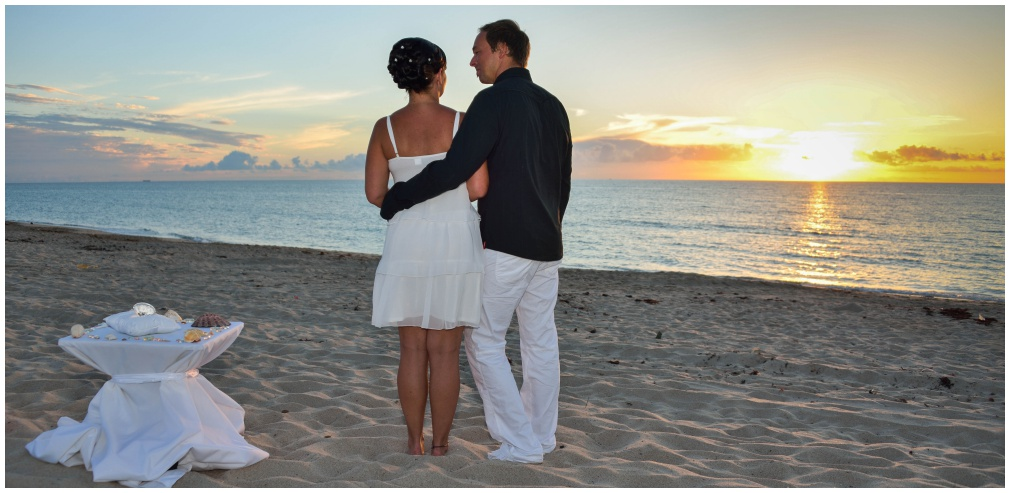 Sunrise Beach Wedding Florida Delray Beach