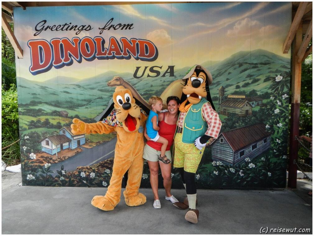 Fotoshooting mit Pluto und Goofy