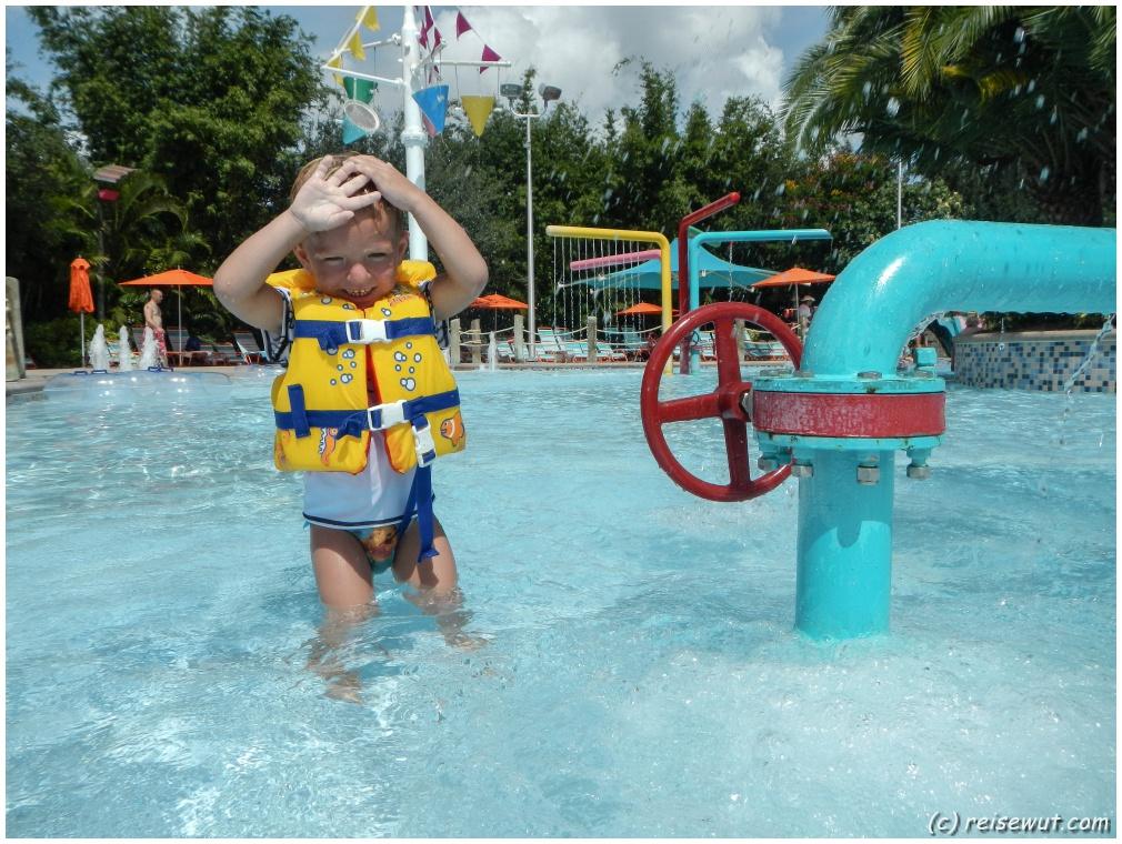 Im Kinderbereich haben selbst Nichtschwimmer ihren Spaß