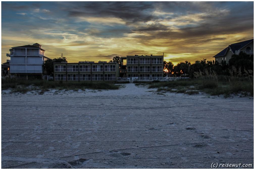 Sonnenaufgang über unserem Motel
