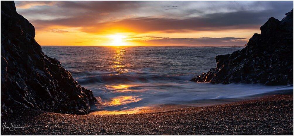 Sonnenuntergang bei Djúpalónssandur