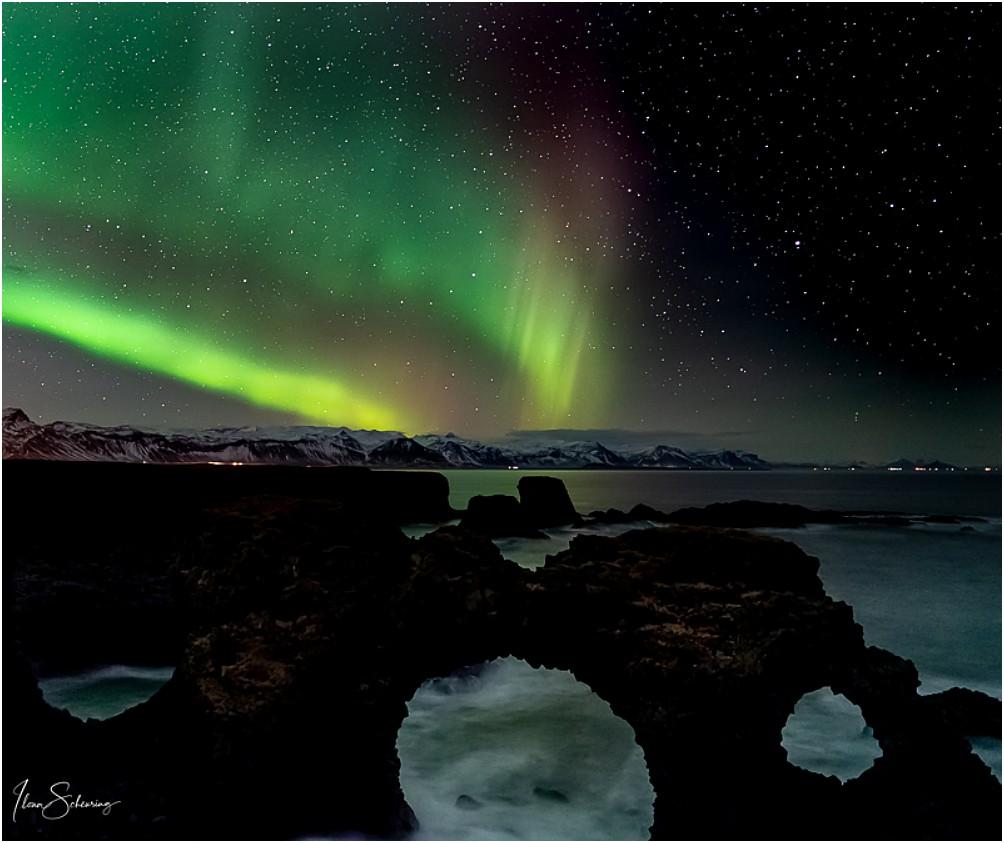 Polarlichter über dem Gatklettur