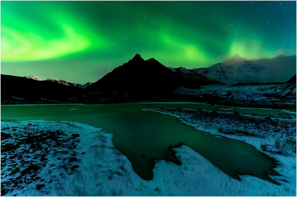 Polarlichter über dem Fjallsárlón