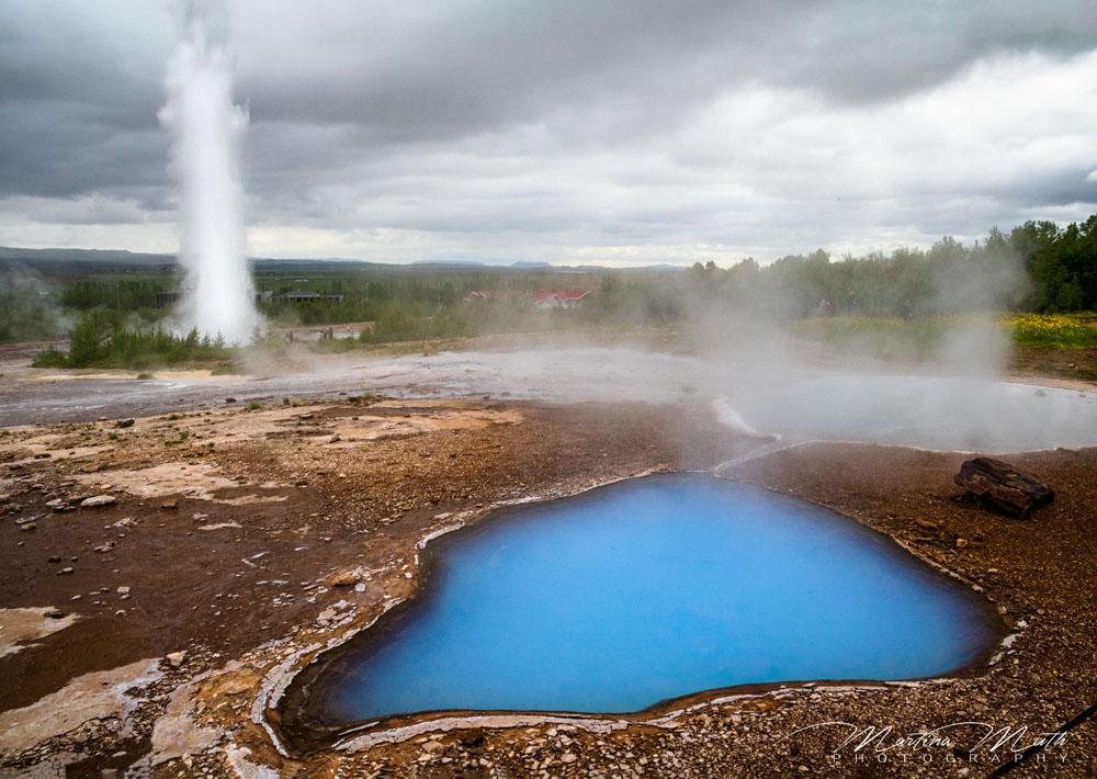 Blue Pool in der Nähe vom Geysir