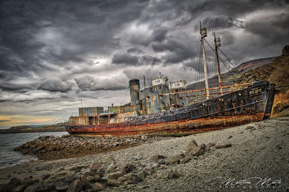 Die beiden Schiffswracks der Hvalur 6 und 7
