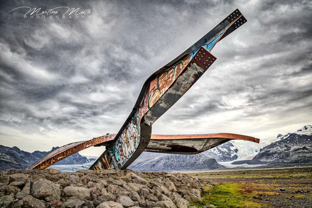 Brückendenkmal an der Skeiðarársandur