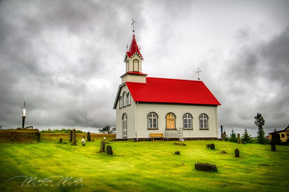 Hraungerðiskirkja in der Nähe von Selfoss