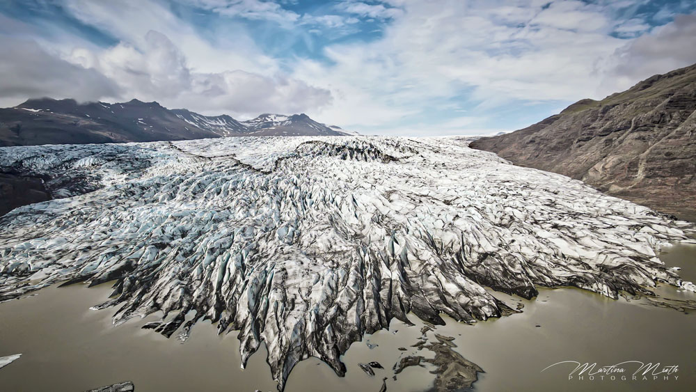 Flaajökull aus der Luft