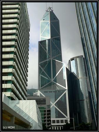 Blick auf die Bank of China