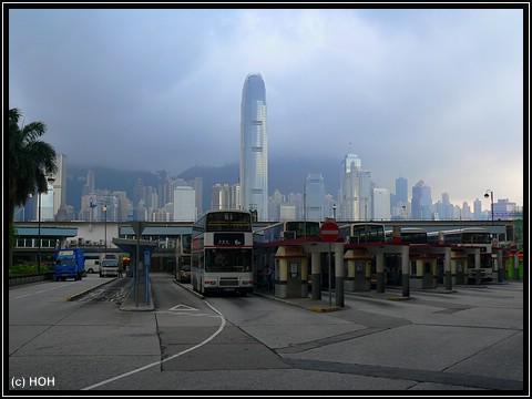 Busbahnhof am Star Ferry Pier