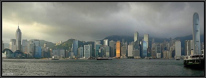Die Skyline darf natürlich bei keinem Stopover in Hongkong fehlen