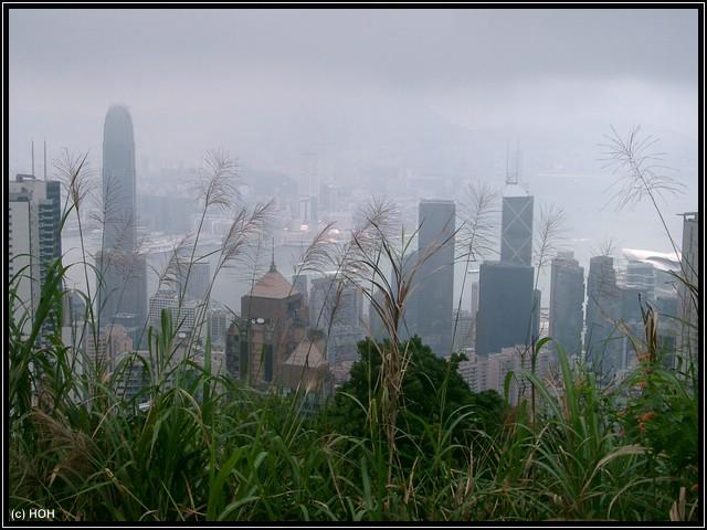Blick vom Peak auf Hong Kong