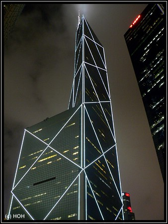 Bank of China bei Nacht