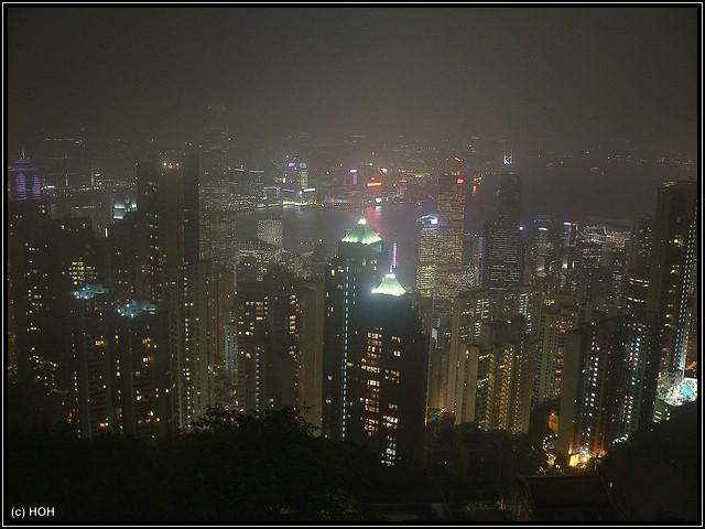 Aussicht vom Peak bei Nacht