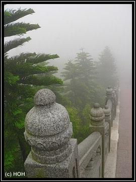 ... je höher man kommt, desto dichter wird der Nebel