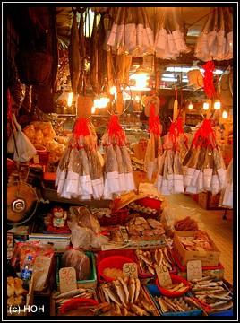 Fischangebot auf dem Markt