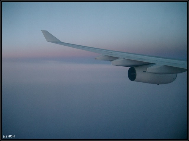 Auf dem Rückflug ...