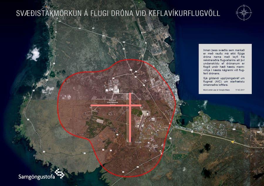 Flugverbitszone in Keflavik