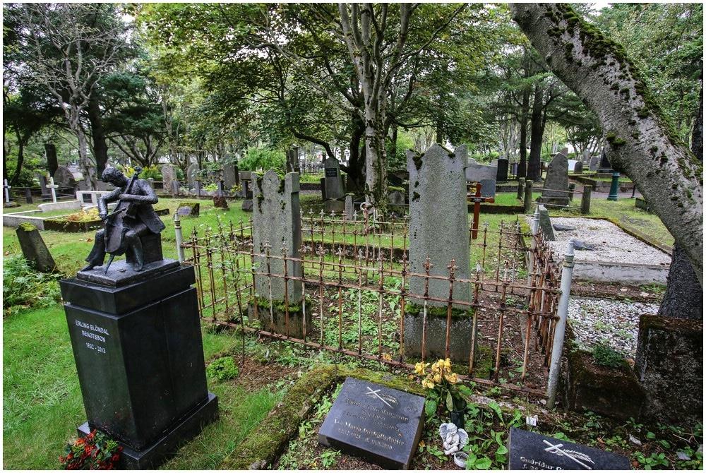 """Der Friedhof Hólavallagarður ist schon irgendwie recht """"fotogen"""""""
