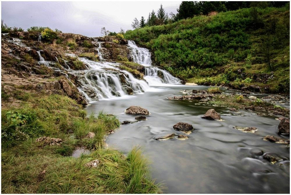 Der Kermoafoss im Elliðaardalur